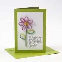 A Happy Moments Greeting Card with a Rocaille Seed Bead Flower