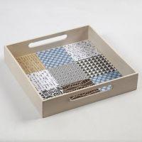 A Tray with Vivi Gade Design Paper Tiles