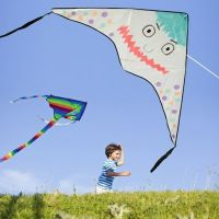 A Nylon Kite decorated with Textile Markers