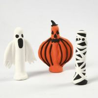 Halloween Figures made from Silk Clay on Clothes Pegs