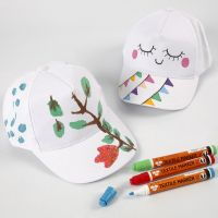 A Cap decorated with Textile Markers
