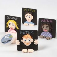 A Silk Clay 3D Portrait on a painted Coaster