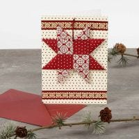 A Christmas Card with a woven Star