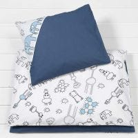 Bedding for a Baby Duvet and Pillow made from Fabric with decorated Designs