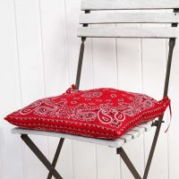 A Cushion Cover  made from two Bandanas