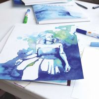 An Illustration made with Watercolour Paint Markers