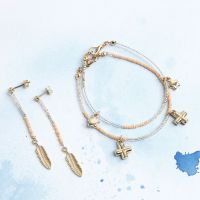 Bracelets and Stud Earrings with Pendants