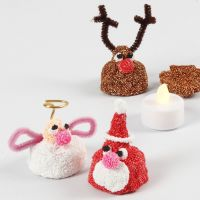A small Foam Clay Christmas Figure with an LED Tea Light inside