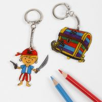 A Pirate Keyring Fob from Shrink Plastic