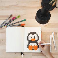 Pixel Art in a Bullet Journal