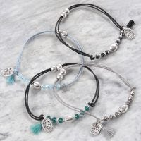 Bracelets with Faceted and Metal Beads
