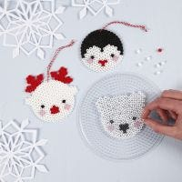 Polar Animals from Nabbi Fuse Beads on a Pegboard