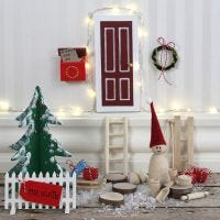 An Elf's Door with a Picket  Fence and a Letterbox