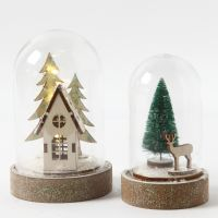 Dome Bell Jars with Decorations inside