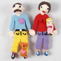 Silk Clay Magnet Figures