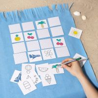 A Memory Game decorated with Markers
