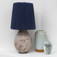 A Lamp Shade wrapped with Spaghetti (Fabric) Yarn