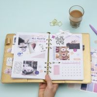 A monthly Overview in a Bullet Journal and a Planner