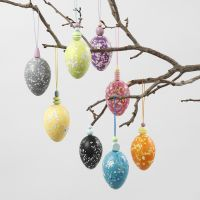Plastic Eggs with a Terrazzo Look