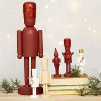 Wooden Nutcracker Figures decorated with Glitter