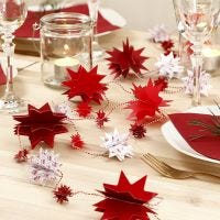A Star Garland from punched-out Design Paper