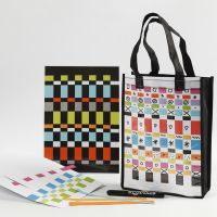 A Bag and a Place Mat decorated with Paper Weaving