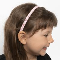 A Hair Band decorated with Patchwork Fabric