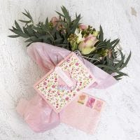 A Shaker Card and Envelope decorated with handmade Paper