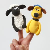 Shaun the Sheep finger puppets from Silk Clay and Foam Clay