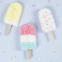 Ice lollies modelled from Foam Clay XL