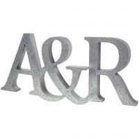 Painted Initials with Glitter