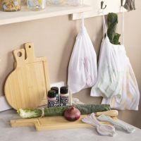 Storage bags with lino printing