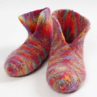 Knitted, Felted Slippers